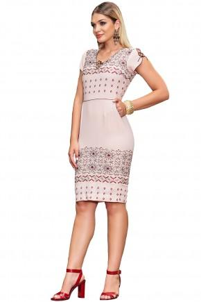 ref 1882 vestido crepe bordado barrado com dit
