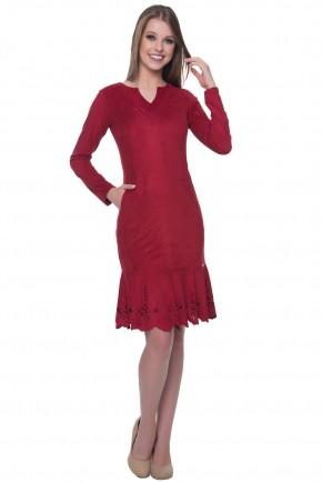 vestido suede hapuk vermelho viaevangelica