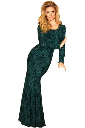 vestido longo festa verde estampado fascinius viaevangelica