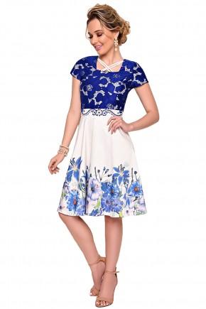 vestido renda azul estampa floral zunna ribeiro viaevangelica