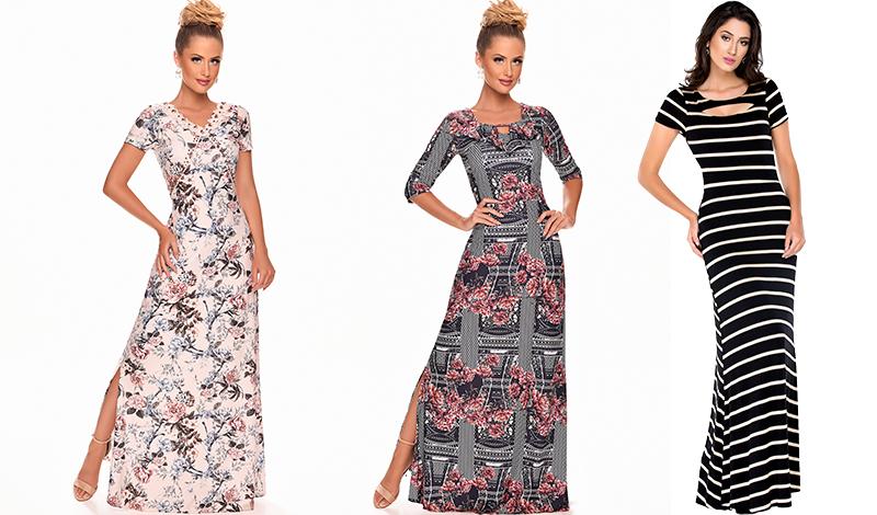 vestido longo estampado listrado zunna ribeiro blog via evangelica