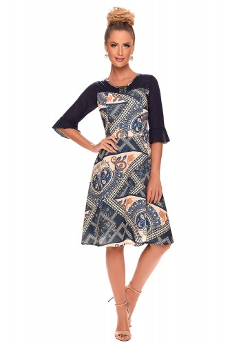 vestido manga sino bordado estampado zunna ribeiro viaevangelica