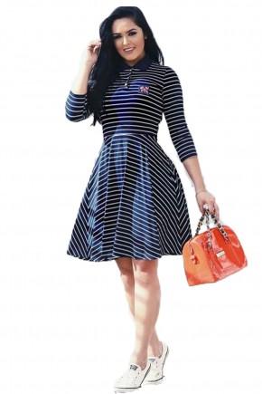 vestido azul gode fascinius