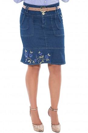 saia jeans sino bordado floral via tolentino viaevangelica frente detalhe 2