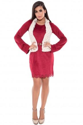 vestido suede com casaco via tolentino viaevangelica frente