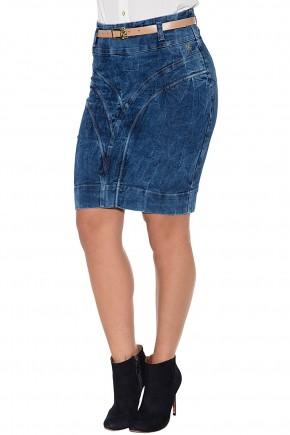 saia jeans manchada curta via tolentino viaevangelica frente detalhe