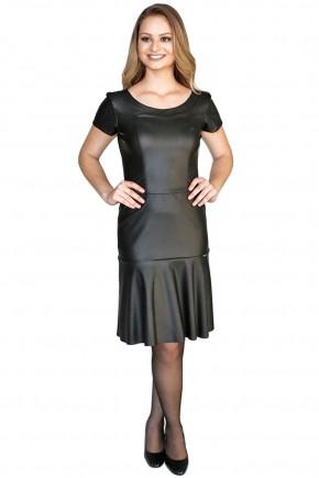 vestido sino preto resinado manga curta hapuk viaevangelica frente