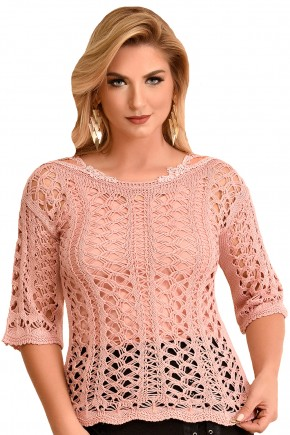 blusa trico rose fascinius viaevangelica frente 2