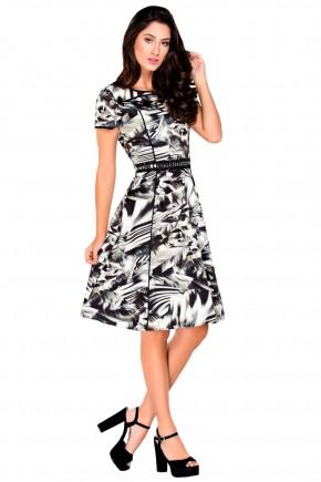 vestido de sarja curto com bordado na cintura zunna ribeiro viaevangelica frente