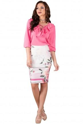 saia lapis estampa floral rosa titanium viaevangelica frente