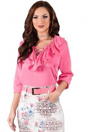 blusa rosa babados amarracao titanium viaevangelica frente 2