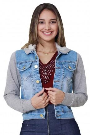 jaqueta jeans manga moletom tata martello viaevangelica frente