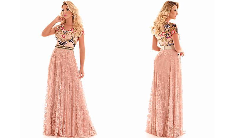 vestido longo renda tendencia look casamento evangelico blog viaevangelica