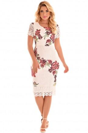 vestido justo off white renda sobrebosta floral bordo fascinius viaevangelica frente