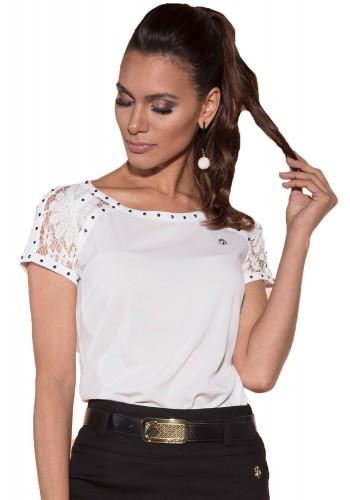 blusa off white manga renda bordada via tolentino viaevangelica frente detalhe 2