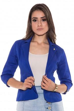 blazer azul ziper nas mangas via tolentino viaevangelica frente detalhe
