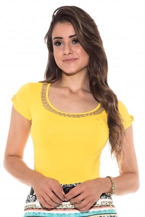 body amarelo decote tule bordado via tolentino viaevangelica frente detalhe