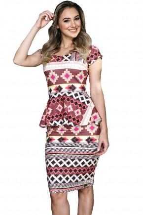 vestido peplum estampa geometrica tata martello viaevangelica frente