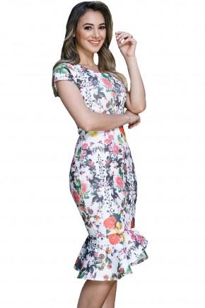 vestido sino assimetrico estampa floral tata martello viaevangelica frente