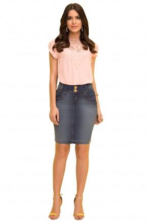 saia tradicional jeans escuro laura rosa viaevangelica frente