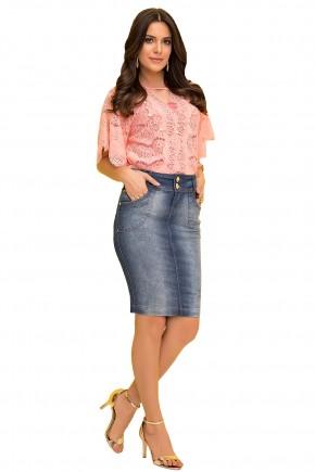 saia tradicional jeans bolsos funcionais luara rosa viaevangelica frente