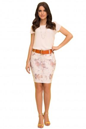 saia tradicional estampa abstrata curta com cinto laura rosa viaevangelica frente