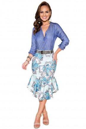 saia sino cintura alta azul claro estampa floral barra assimetrica titanium viaevangelica frente fileminimizer