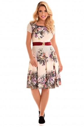 vestido gode estampa floral poa animal print fascinius viaevangelica frente