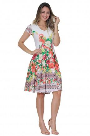 vestido gode off white estampa floral manga curta tata martello viaevangelica frente