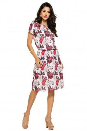 vestido chemise estampa floral bolso frontal com cinto zunna ribeiro viaevangelica frente