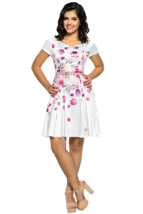 vestido moda teen branco estampa floral zunna ribeiro viaevangelica frente
