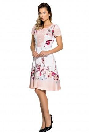 vestido evase branco estampa floral rendado zunna ribeiro viaevangelica frente