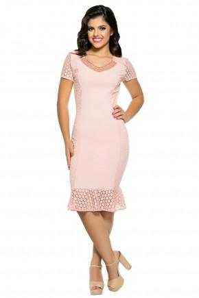 vestido sino rose decote bordado perolas renda laterais zunna ribeiro viaevangelica frente