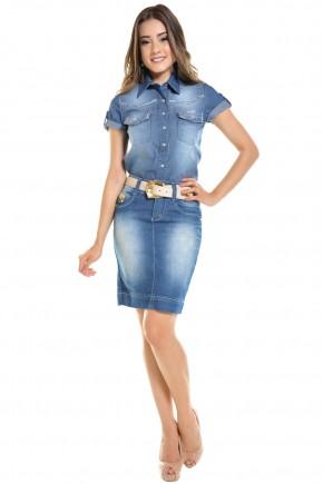 saia jeans clara justa bordado etnico cos dyork viaevangelica frente