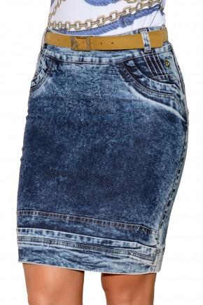 saia justa jeans manchado com cinto via tolentino viaevangelica frente