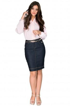 saia jeans escura justa tradicional dyork viaevangelica frente