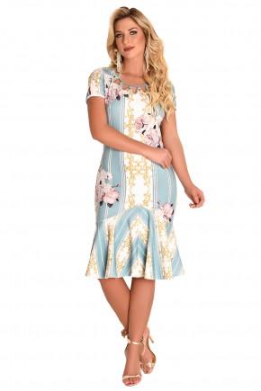 vestido sino estampa listras arabescos e floral decote vazado bordado perolas fascinius viaevangelica frente