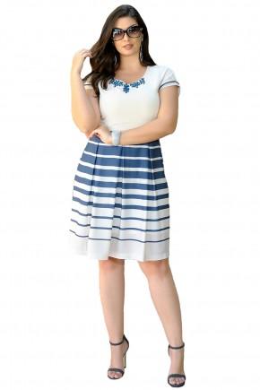 vestido off white gode saia listrada azul decote bordado pedrarias cassia segeti frente