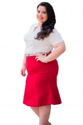 saia sino vermelha com cinto tradicional simples raje jeans frente
