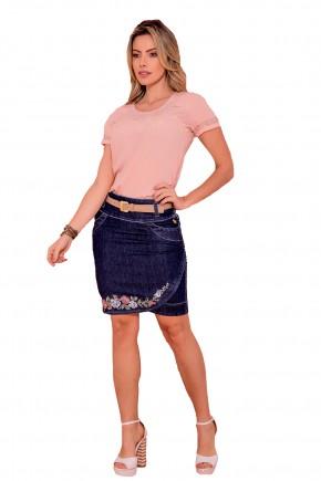 saia jeans bordado corpo inteiro