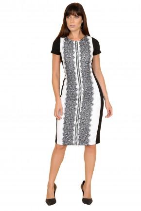 vestido preto branco cassia seseti frente