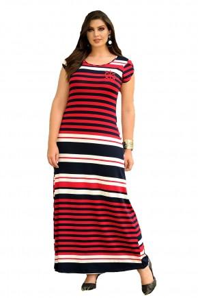 vestido longo marinheiro vermelho cassia seseti frente