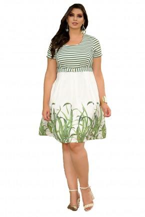 vestido listras verdes frete
